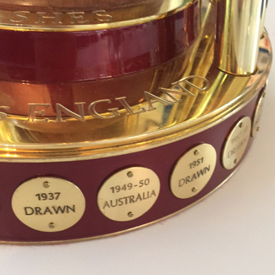 Detail of the Women's Ashes Trophy