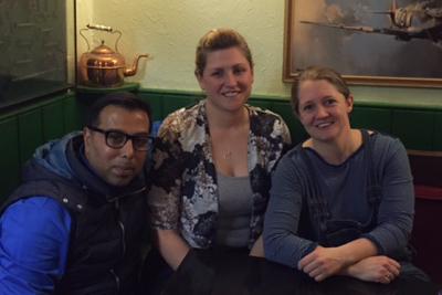 Aftab Habib, Hannah Burr and Emma Boswell